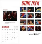 Star Trek Calendar 2008 back