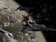 Dominion fleet regroups at Cardassia Prime