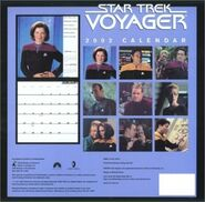 Star Trek VOY Calendar 2002 back