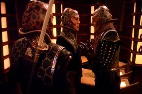 G'Kar meets with Na'Far and Ta'Lon