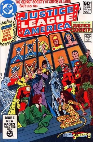 Cover for Justice League of America #195