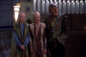 Shaal Mayan with Delenn and G'Kar