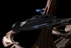 USS Nash departing DS9