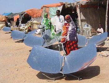 Somalia villagers with cookers