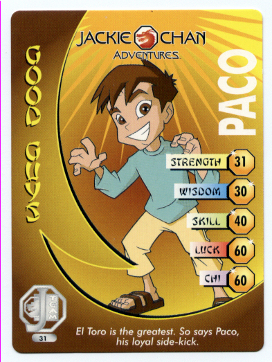 Paco - Jackie Chan Adventures Wiki