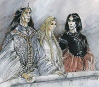 Turgon, Idril and Maeglin
