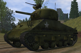 M4 Sherman front view UO