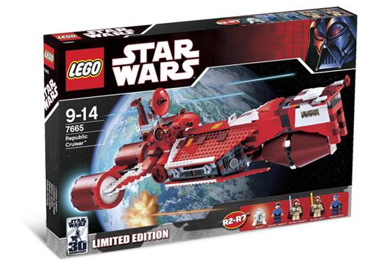 Lego Star Wars 7665 Republic Cruiser (Республиканский Крейсер) 2007.