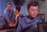 Harrison, Sulu and McCoy, The Naked Time