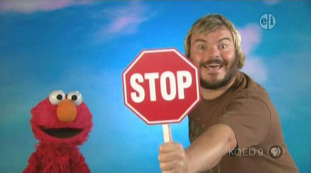Episode 4161 - Muppet Wiki Jack Black Stop Sign