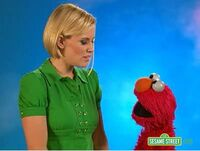 Backstage with Elmo - Neil Jenny McCarthy