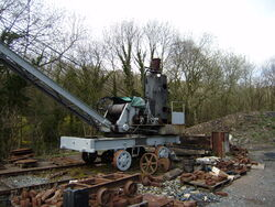 Steam crane (incomplete) at Coalbrookdale
