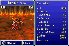 Estadisticas Dragon Rojo