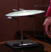USS Melbourne-dedication model
