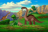 Saltasaurus In Background