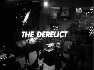 The derelict title card