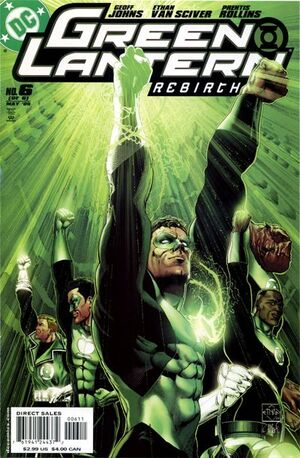 Cover for Green Lantern: Rebirth #6