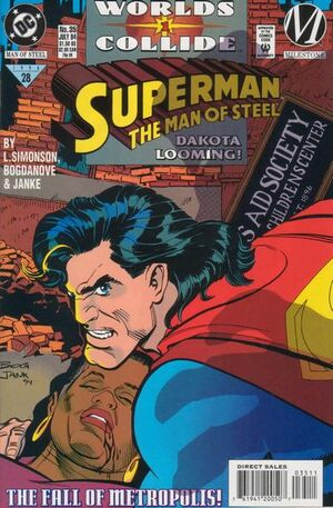 Cover for Superman: Man of Steel #35