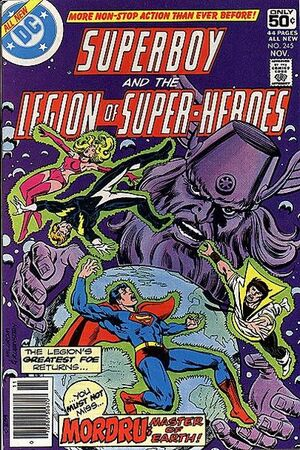 Cover for Superboy and the Legion of Super-Heroes #245