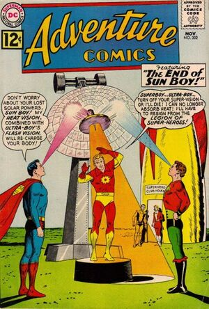 Cover for Adventure Comics #302
