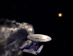 Enterprise and rogue comet