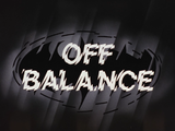 Off Balance-Title Card