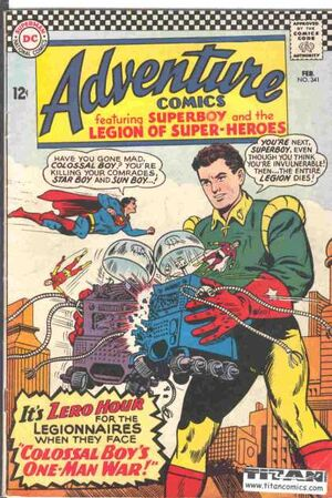Cover for Adventure Comics #341