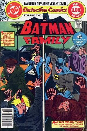 Cover for Detective Comics #483