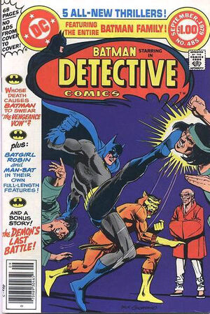 Cover for Detective Comics #485