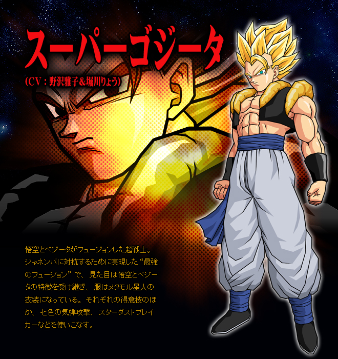 featured on gogeta talk super saiyan 2 list of playable characters in ...