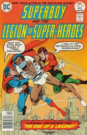 Cover for Superboy and the Legion of Super-Heroes #222