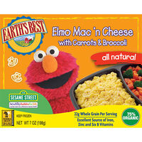 Organic Elmo Mac &#39;n Cheese with Carrots and Broccoli