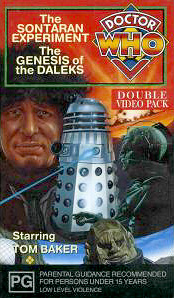 Sontaran experiment genesis of the daleks australia vhs