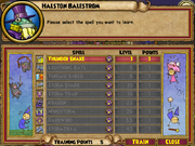Halston Balestrom Trainable Spells