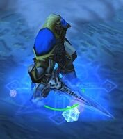Arthas holding frostmourne