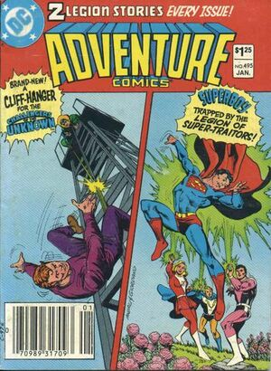 Cover for Adventure Comics #495