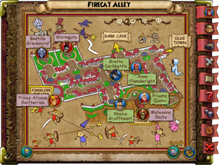 Firecat Alley Smith Map