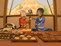Aang and Katara eat.png