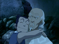 Sokka hugs Pakku