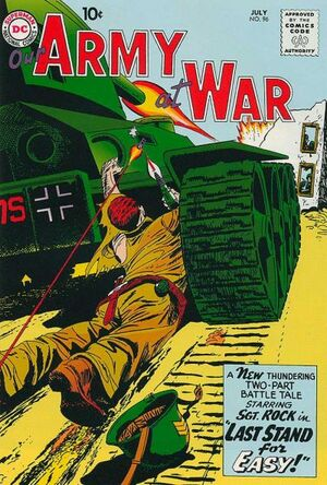 Cover for Our Army at War #96