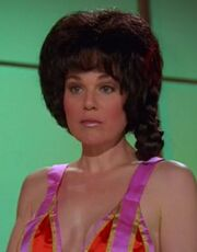 Deep Space Station K-7 brunette waitress, DS9