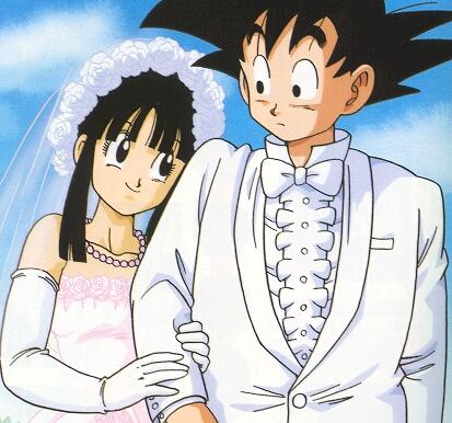 Dragon Ball Z Goku and Chi Chi