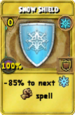 Snow Shield Treasure Card