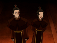 Zuko and Azula in royal robes