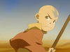 Angry Aang in desert