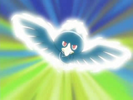EP509 Murkrow usando ataque areo