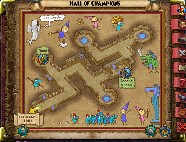 Hall of Champions Map