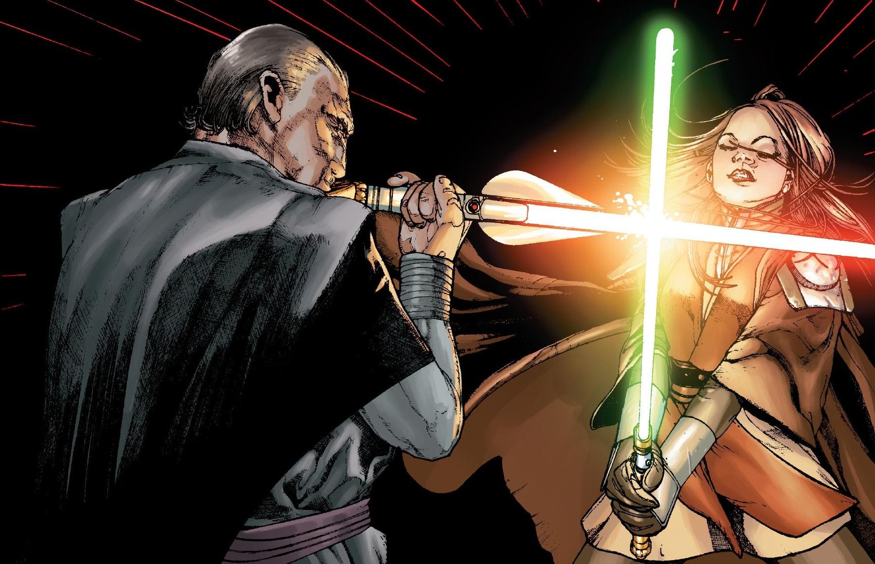 Newest Jedi Knight and younger sister to Stephany kushina Baras_vs_Satele