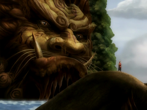 Animals of the Avatar World 300px-Aang_with_Lion_Turtle