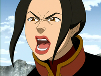 Angry Azula yells